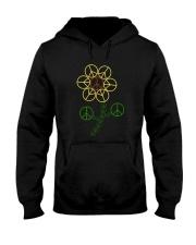 Hippie Flower Hooded Sweatshirt thumbnail