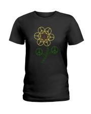 Hippie Flower Ladies T-Shirt thumbnail