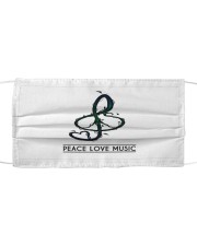 Peace Love Music Cloth face mask front