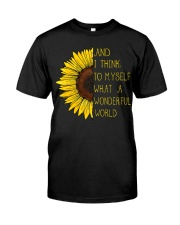 I Think To Mysefl What A Wonderful World Hippie Classic T-Shirt front