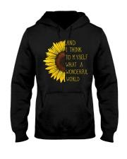 I Think To Mysefl What A Wonderful World Hippie Hooded Sweatshirt thumbnail