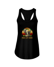 Peace Love Music Ladies Flowy Tank thumbnail