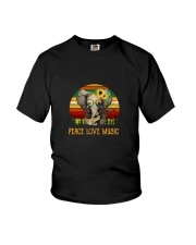 Peace Love Music Youth T-Shirt thumbnail