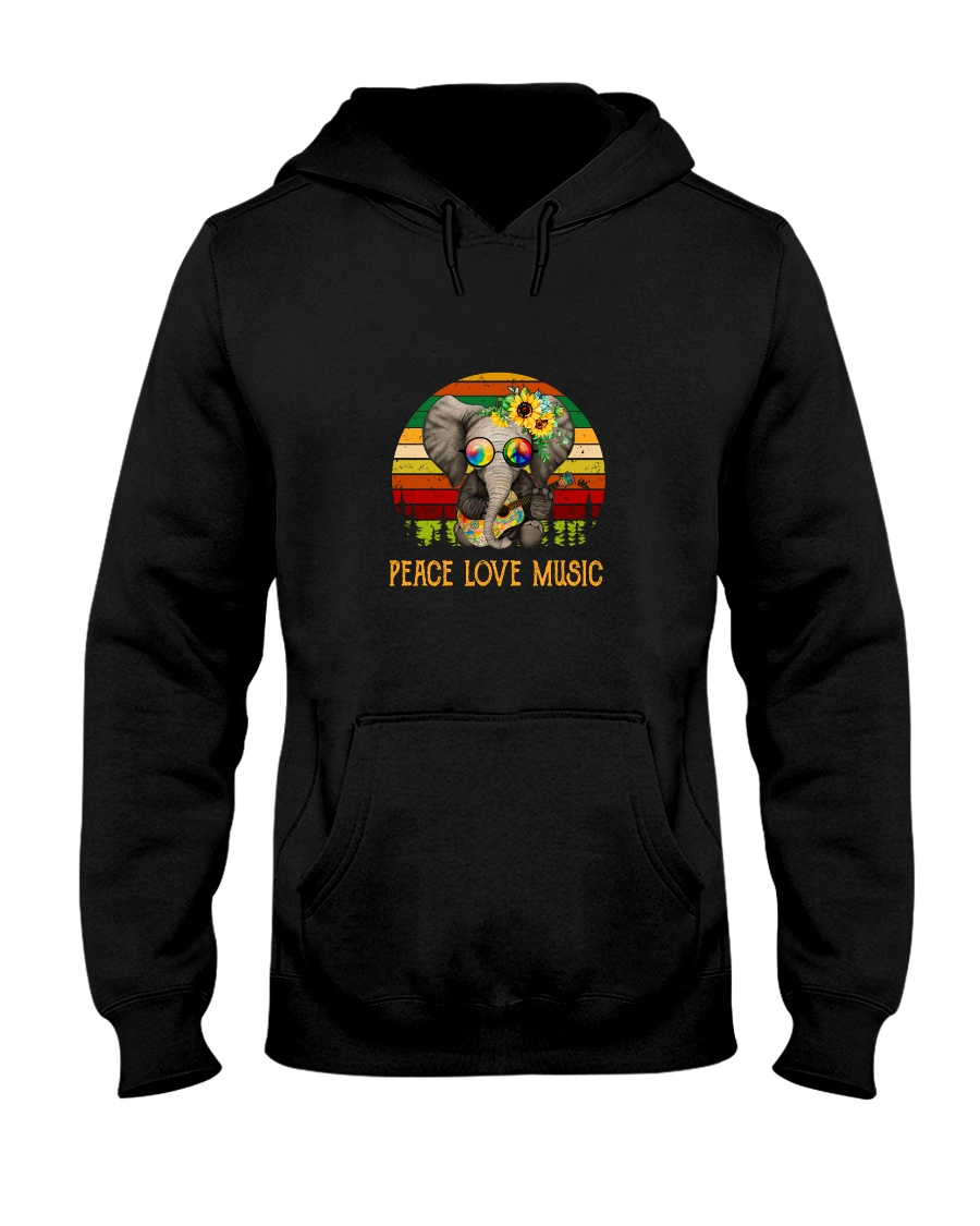 Peace Love Music Hooded Sweatshirt