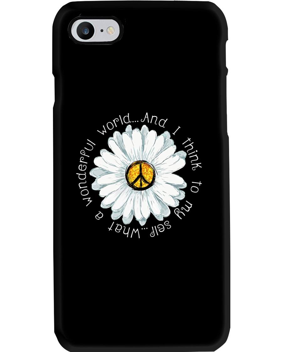 I Think To My Seff What A Wonderful World Hippie Phone Case