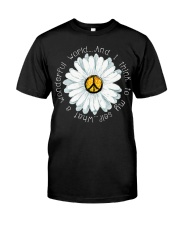 I Think To My Seff What A Wonderful World Hippie Classic T-Shirt thumbnail