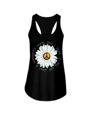 I Think To My Seff What A Wonderful World Hippie Ladies Flowy Tank thumbnail