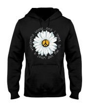 I Think To My Seff What A Wonderful World Hippie Hooded Sweatshirt front