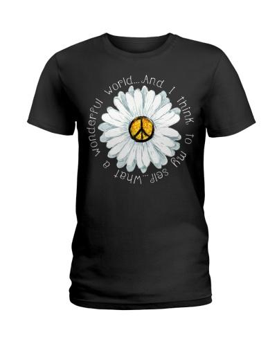 I Think To My Seff What A Wonderful World Hippie
