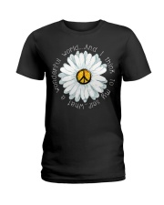 I Think To My Seff What A Wonderful World Hippie Ladies T-Shirt thumbnail