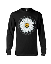 I Think To My Seff What A Wonderful World Hippie Long Sleeve Tee thumbnail