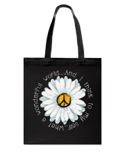I Think To My Seff What A Wonderful World Hippie Tote Bag thumbnail