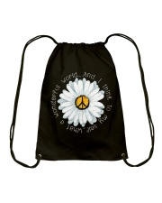 I Think To My Seff What A Wonderful World Hippie Drawstring Bag front