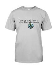 Imagine Peace Hippie Classic T-Shirt front