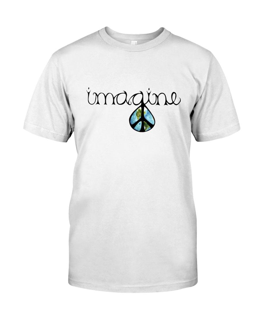 Imagine Peace Hippie Classic T-Shirt