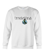 Imagine Peace Hippie Crewneck Sweatshirt thumbnail