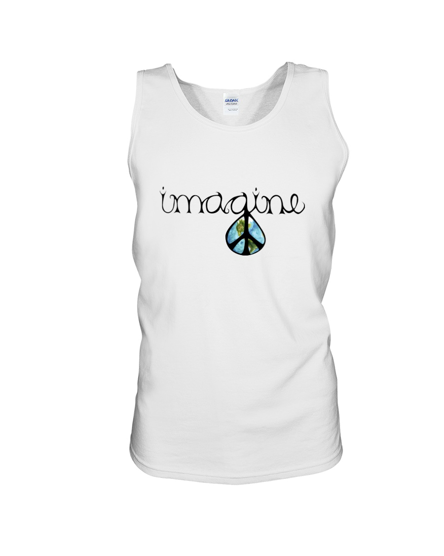 Imagine Peace Hippie Unisex Tank showcase