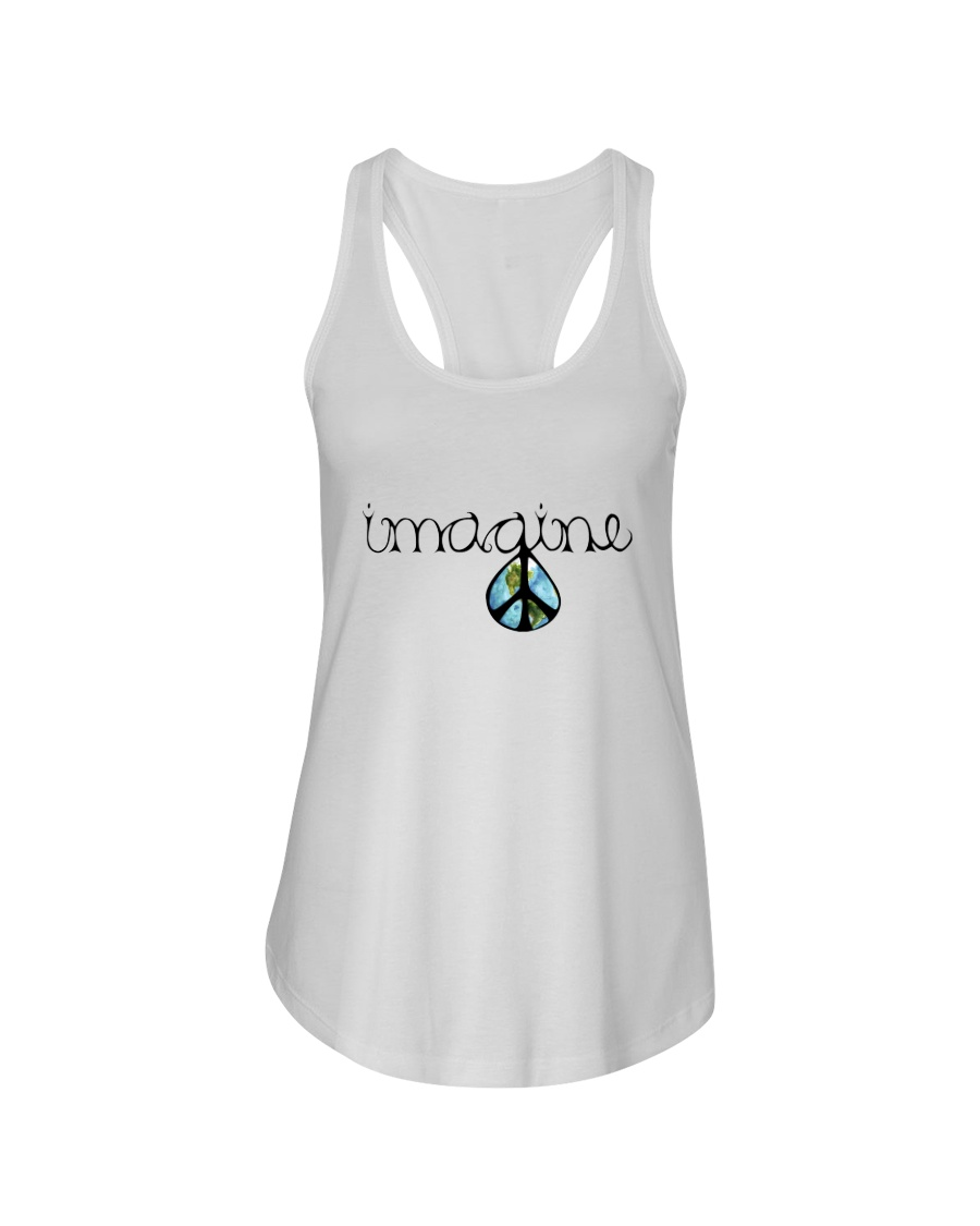 Imagine Peace Hippie Ladies Flowy Tank