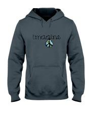 Imagine Peace Hippie Hooded Sweatshirt front