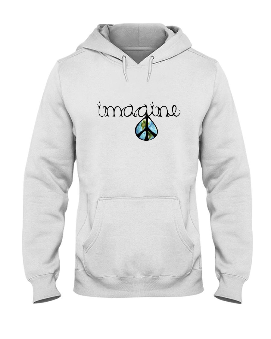 Imagine Peace Hippie Hooded Sweatshirt