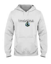 Imagine Peace Hippie Hooded Sweatshirt thumbnail