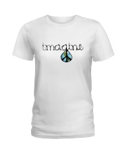 Imagine Peace Hippie Ladies T-Shirt thumbnail