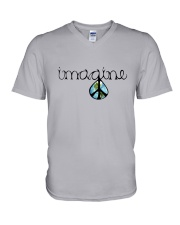 Imagine Peace Hippie V-Neck T-Shirt thumbnail