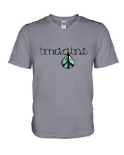 Imagine Peace Hippie V-Neck T-Shirt thumbnail