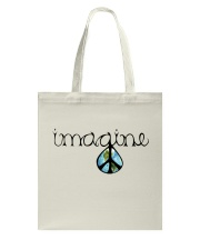 Imagine Peace Hippie Tote Bag thumbnail