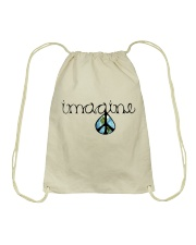 Imagine Peace Hippie Drawstring Bag thumbnail