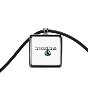 Imagine Peace Hippie Cord Rectangle Necklace thumbnail