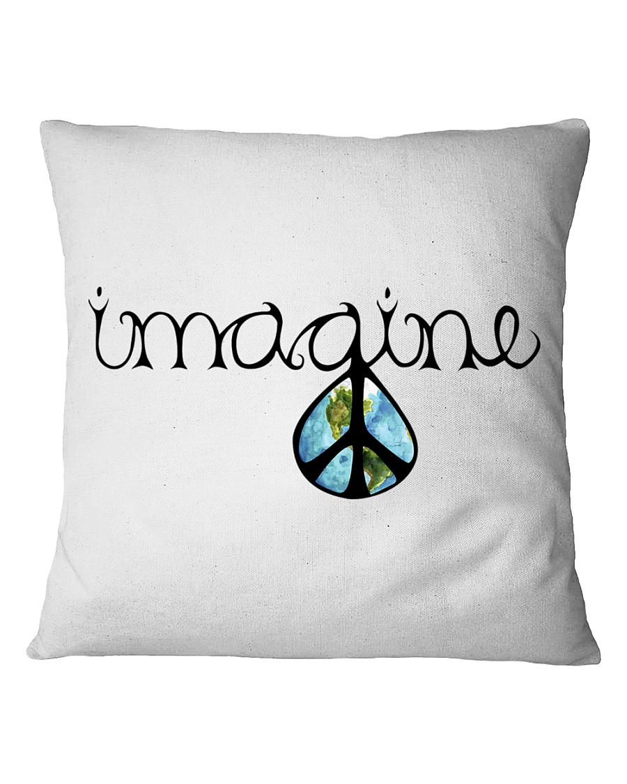 Imagine Peace Hippie Square Pillowcase