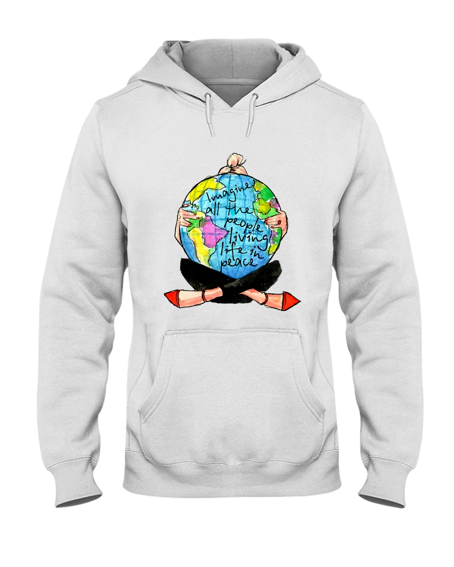 People Living Life In Peace Hooded Sweatshirt