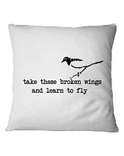 Take These Broken Wings Square Pillowcase thumbnail