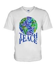 Teace Peace V-Neck T-Shirt thumbnail