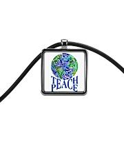Teace Peace Cord Rectangle Necklace thumbnail