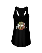 Teach Peace Hippie Ladies Flowy Tank tile