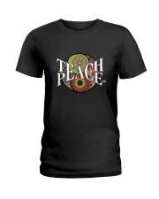 Teach Peace Hippie Ladies T-Shirt tile