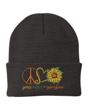Peace Love Sunshine Knit Beanie front