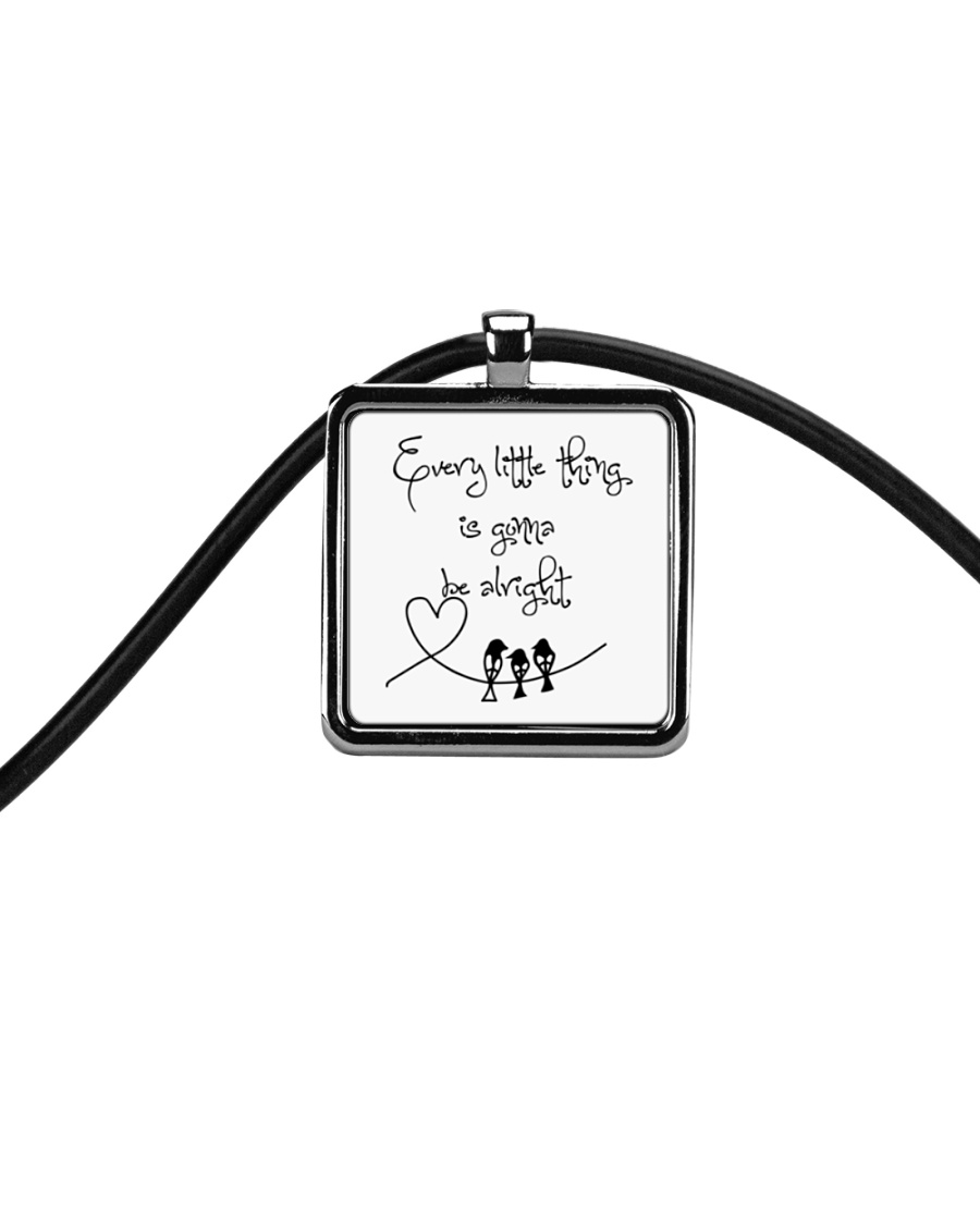 Every Little Thing Is Gonna Be Alright Hippie  Cord Rectangle Necklace