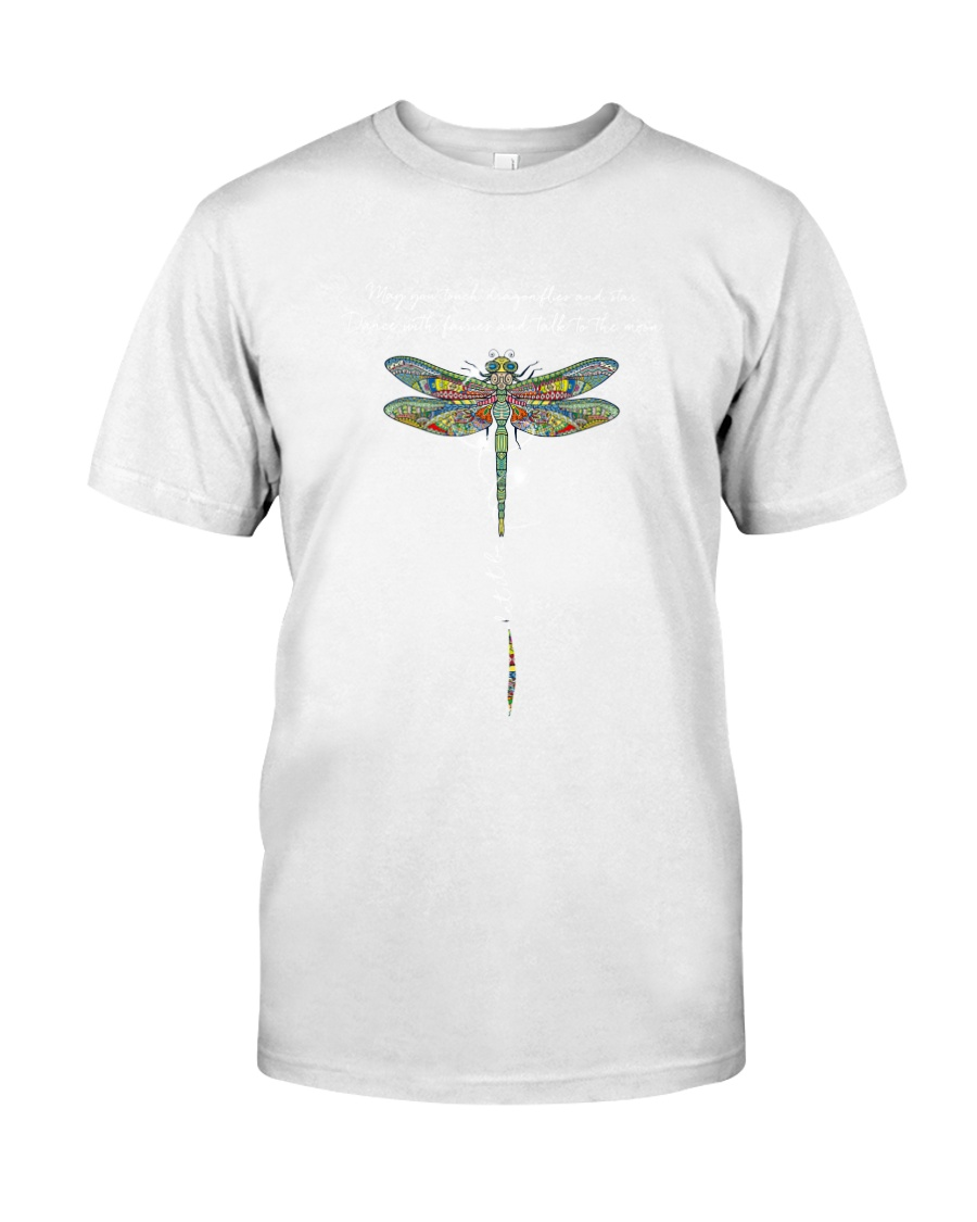 Touch Dragonflies And Star Classic T-Shirt
