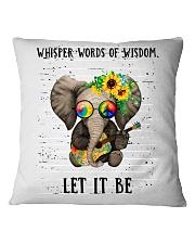 Whisper Words Of Wisdom Square Pillowcase thumbnail