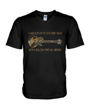 Wanna Sleep With You In The Desert V-Neck T-Shirt thumbnail