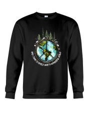 Myself What A Wonderful World 1 Crewneck Sweatshirt thumbnail