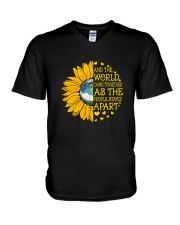 The World Came Together V-Neck T-Shirt thumbnail