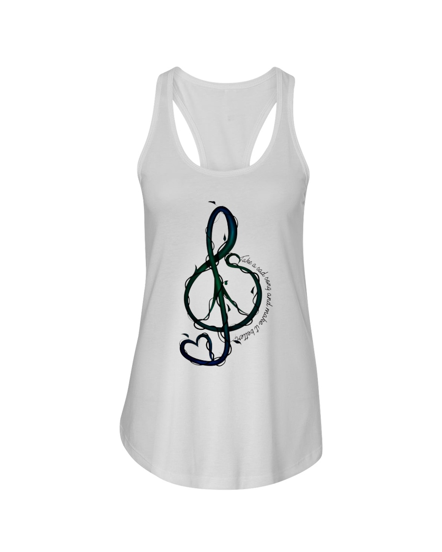 Take A Sad Song And Make It Better Ladies Flowy Tank