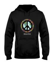 Imagine Peace Hooded Sweatshirt front