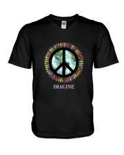 Imagine Peace V-Neck T-Shirt thumbnail