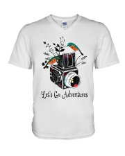 Lets Go Adventure V-Neck T-Shirt thumbnail