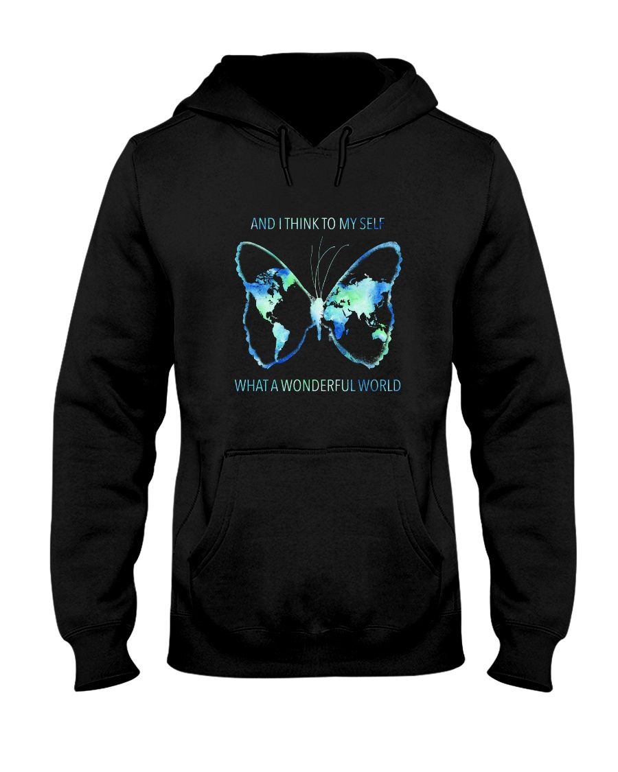 Myself What A Wonderful World 3 Hooded Sweatshirt
